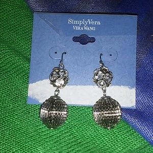 Simply Vera Wang Silver Earrings